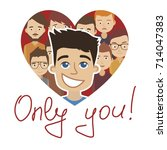 only you. heart icon. | Shutterstock .eps vector #714047383