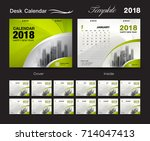 set desk calendar 2018 template ... | Shutterstock .eps vector #714047413