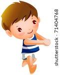 sportive child   Shutterstock .eps vector #71404768