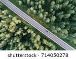 aerial view of green pine...   Shutterstock . vector #714050278