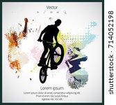 bmx rider | Shutterstock .eps vector #714052198