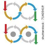 business process diagram | Shutterstock .eps vector #71405419