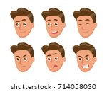 male character with some... | Shutterstock .eps vector #714058030