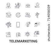 telemarketing  call center ... | Shutterstock .eps vector #714058339