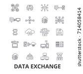data exchange  internet ...   Shutterstock .eps vector #714058414