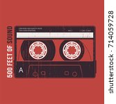retro design with a cassette... | Shutterstock .eps vector #714059728