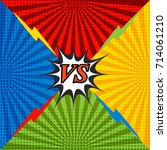 comic confrontation bright...   Shutterstock .eps vector #714061210