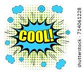 comic cool wording template...   Shutterstock .eps vector #714061228