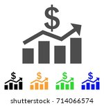 sales chart icon. vector... | Shutterstock .eps vector #714066574