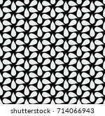 abstract floral vector seamless ... | Shutterstock .eps vector #714066943