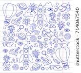 knowledge imagination fantasy... | Shutterstock .eps vector #714067540