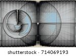 numerical geometric abstract...   Shutterstock . vector #714069193