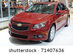 TORONTO-FEBRUARY 17: Chevrolet Cruze voted AJAC Best small car displayed at the 2011 Canadian International Auto Show on February 17, 2011 in Toronto - stock photo