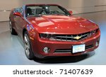 TORONTO-FEBRUARY 17: New 2011 Chevrolet Camaro Convertible showcased at the 2011 Canadian International Auto Show on February 17, 2011 in Toronto - stock photo