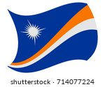 marshall islands flag moved by... | Shutterstock .eps vector #714077224