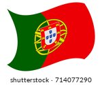 portugal flag moved by the wind | Shutterstock .eps vector #714077290