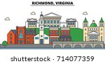 richmond  virginia. city... | Shutterstock .eps vector #714077359