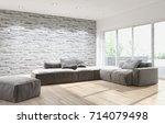 modern bright interiors 3d