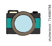 photographic camera icon | Shutterstock .eps vector #714080788