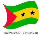 sao tome flag moved by the wind | Shutterstock .eps vector #714081910