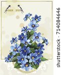 Stylish Card With Anemones For...