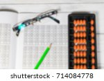 mental arithmetic blurred... | Shutterstock . vector #714084778