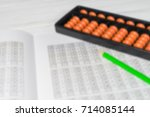 mental arithmetic blurred... | Shutterstock . vector #714085144