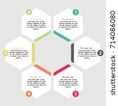 vector infographics. template... | Shutterstock .eps vector #714086080