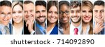 group of people faces | Shutterstock . vector #714092890