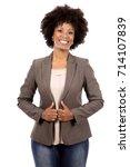 beautiful casual black woman...   Shutterstock . vector #714107839