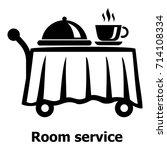 room service icon. simple...