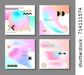 set of artistic colorful... | Shutterstock .eps vector #714111574
