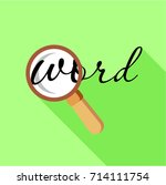 search word with magnifying... | Shutterstock .eps vector #714111754