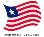 liberia flag moved by the wind | Shutterstock .eps vector #714114358