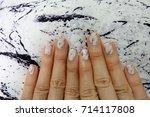 beautiful nail polish  manicure ... | Shutterstock . vector #714117808