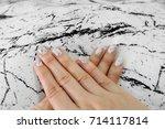beautiful nail polish  manicure ... | Shutterstock . vector #714117814