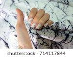 beautiful nail polish  manicure ... | Shutterstock . vector #714117844