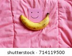 ripped banana  close up smile... | Shutterstock . vector #714119500