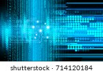 binary circuit future... | Shutterstock . vector #714120184