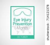 eye injury prevention month... | Shutterstock .eps vector #714121378