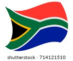 south africa flag moved by the... | Shutterstock .eps vector #714121510