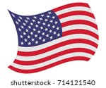 united states flag moved by the ... | Shutterstock .eps vector #714121540