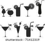 Cocktail Collection Isolated O...
