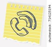 doodle phone | Shutterstock .eps vector #714125194
