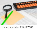 mental arithmetic blurred... | Shutterstock . vector #714127588