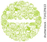 vegetable circle. | Shutterstock .eps vector #714129613