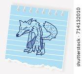 werewolf doodle | Shutterstock .eps vector #714132010