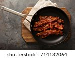 cooked sizzling hot tasty... | Shutterstock . vector #714132064