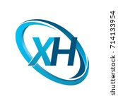 letter xh logotype design for... | Shutterstock .eps vector #714133954
