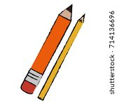 pencil school with colors | Shutterstock .eps vector #714136696